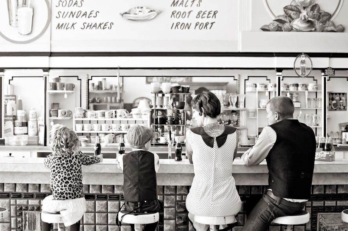 Fashion Family Family Time Vintage Ice Cream Shop