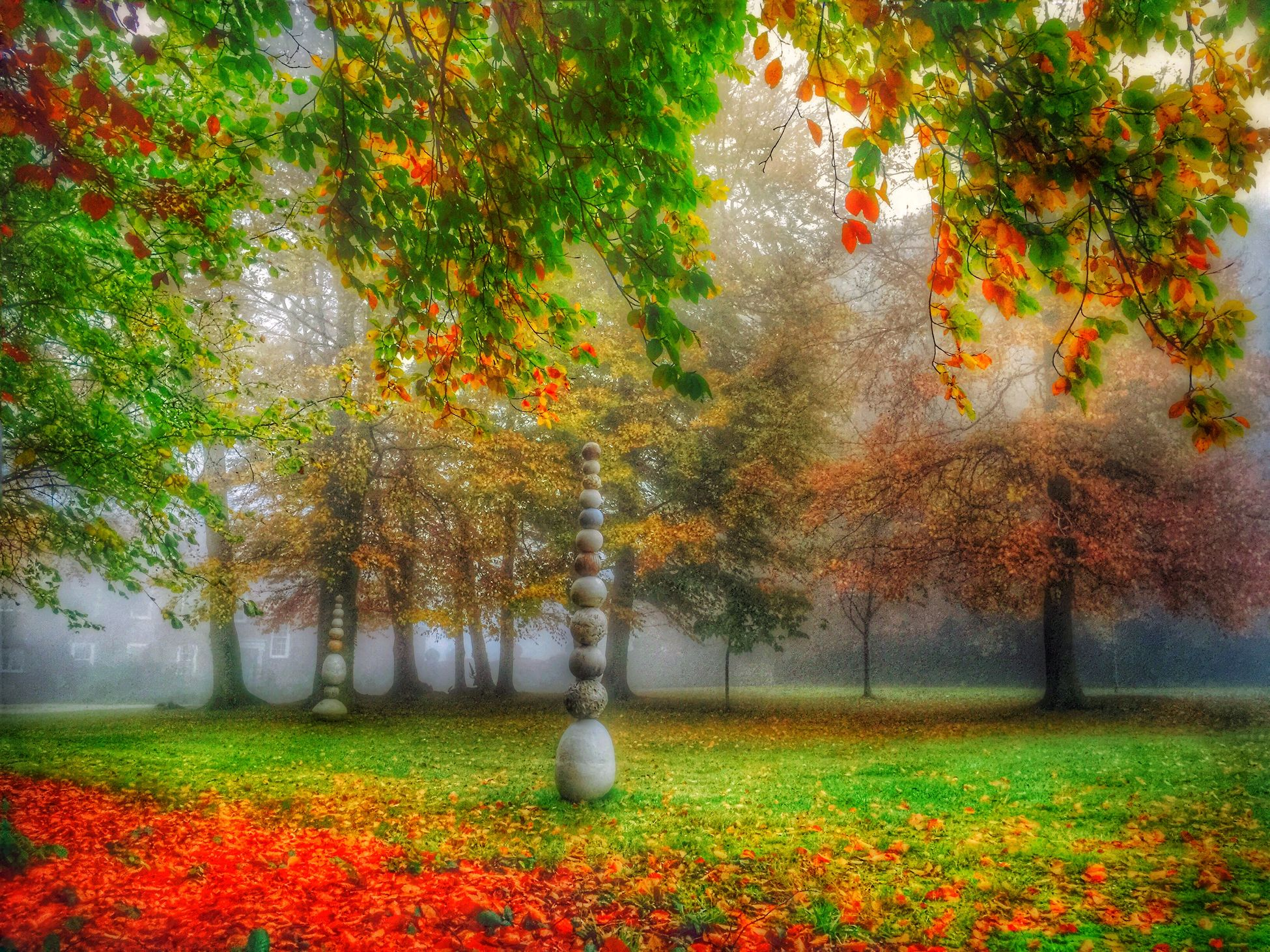 Nature Autumn Hello World Autumn Leaves Seasons Foggy