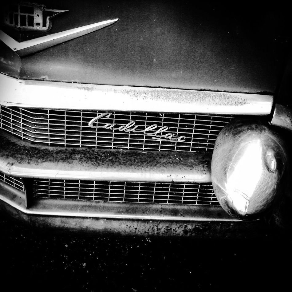 Caddy grille American Car 1958 GM Automotive 50s Taking Photos My Point Of View Documentary Reportage Bumper Caddy Luv Affair Car Chromed Grille Headlight Land Vehicle Metal Mode Of Transport Mono Chrome No People Old-fashioned Retro Styled Technology Transportation