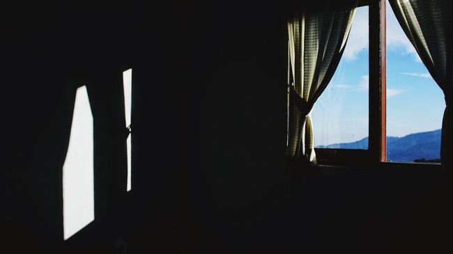 My Favorite Place Window Indoors  Curtain Darkroom Day Sky Drapes  No People Darkness Clarity Hopes And Dreams Helloworld Lastsummerdays First Eyeem Photo