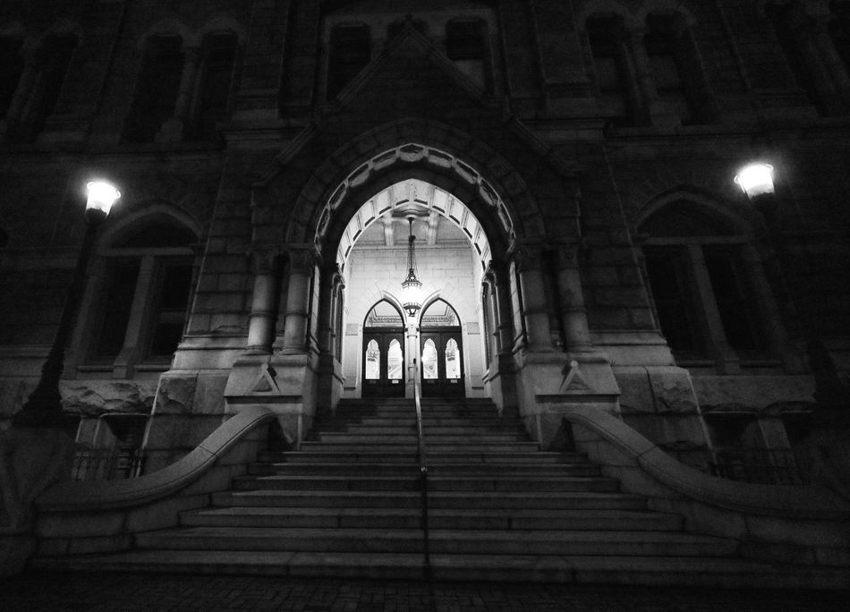 """There are dark shadows on the earth, but its lights are stronger in the contrast."" Arch Steps Steps And Staircases Staircase Illuminated Architecture Built Structure Night Coloradophotographer Ladyphotographerofthemonth Photography Photooftheday Old Buildings Architecture Virginia Blackandwhite Black And White Black & White Blackandwhite Photography Black And White Photography Black&white History Historic Nightphotography Richmond"