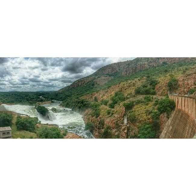 Water flowing out of Hartbeesport Dam ExploringJozi LG  G2 Water panorama