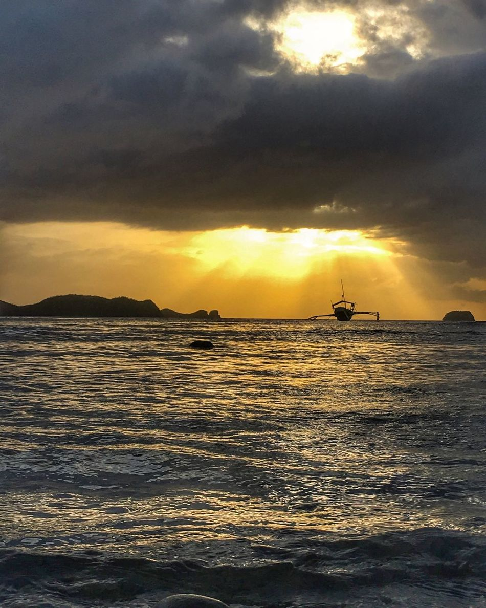 Seas the day! Sea Water Silhouette Day Scenics Beauty In Nature Waterfront Horizon Over Water No People Sunset Nature Sky Cloud - Sky Nautical Vessel Outdoors Sun Silhouette Philippines Mabini Anilao, Batangas