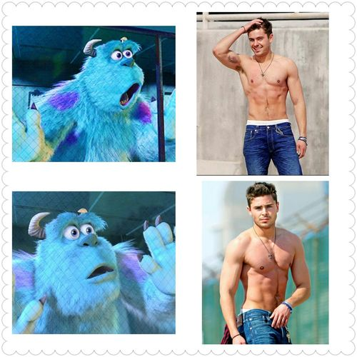 seeing zac efron Hottie Sexybody MonstersInc. Givemehimnow them abs :-*