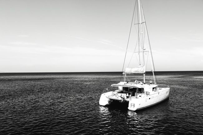 Water Sea Nautical Vessel Sky Horizon Over Water Nature Outdoors Sailboat Day No People Horizontal Yachting