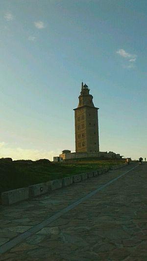 Coruña Galicia Spain Building Exterior Travel Destinations Architecture Tower Built Structure Historical Architecture CoruñaInTheNight