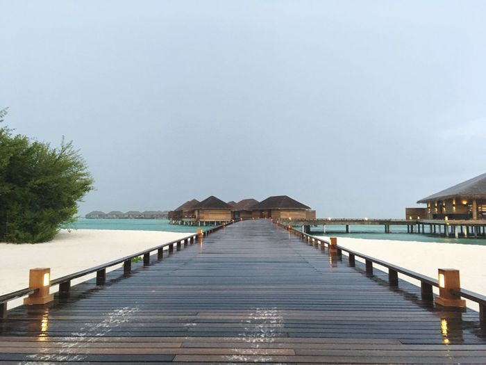 Evening Rain Lagoon Villa Indian Ocean Cocoon Maldives