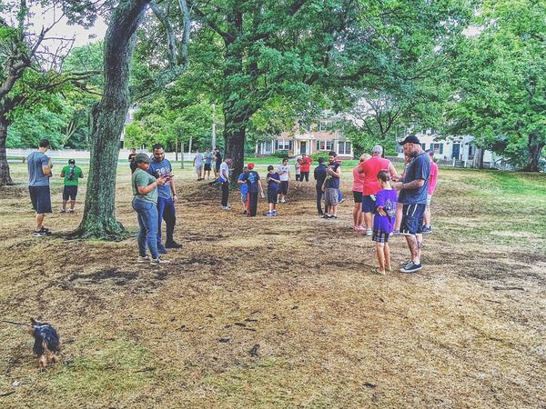 """Charmander!"" Outdoors Outside July Summertime Summer People Together People Of EyeEm People Photography People Watching People USA New England  Academy Hill PokemonGo Pokemon♥♥♥♥ Pokemon Go Pokémon Stratford CT Stratford"