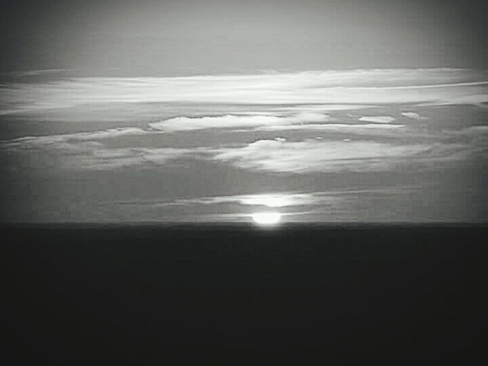 Sunset Black And White Pine Mountain! Over The Mountain Horizon Relaxing