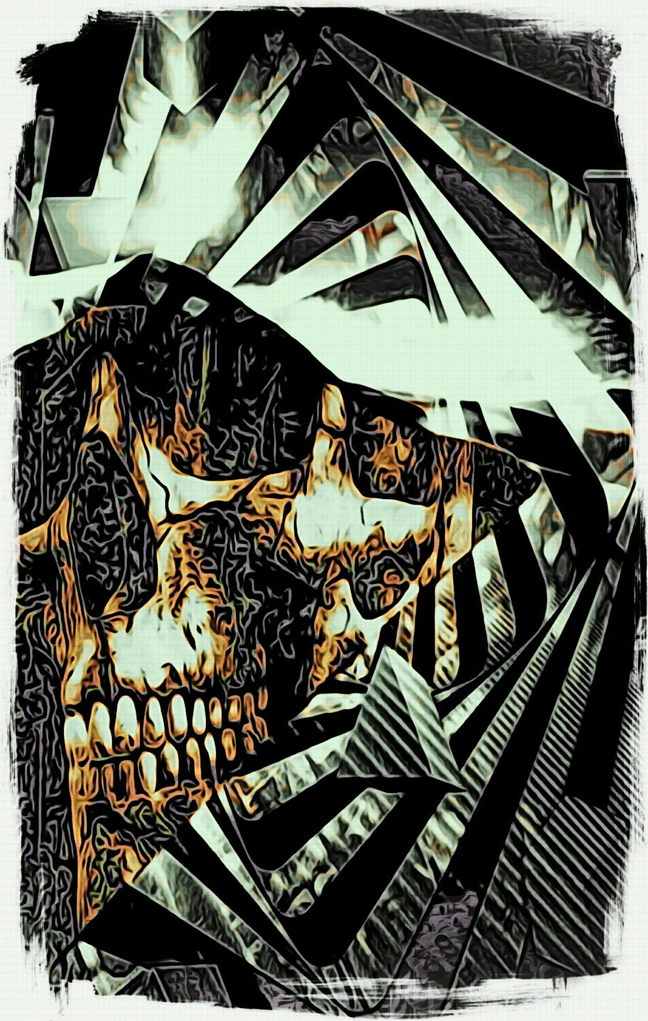 I love the Jixipix app for creating Moku Hanga on Android. My original composition looked good, but this puts it over the top. I love this one! Digital Art Photo Manipulation Getting Inspired Check This Out Moku Hanga Jixipix Art ArtWork Skullart Skull Skull Art Art Gallery My Artwork