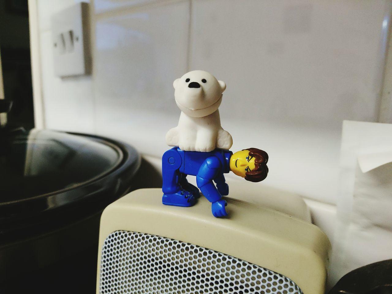 Logo Man And His Bear Human Representation Blue No People LEGO Legophotography Lego Minifigures Toy Toyphotography Toy Animal Toy Adventures Uniform