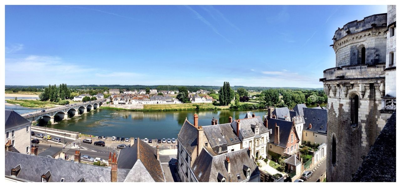 Panoramic View River View Medieval France