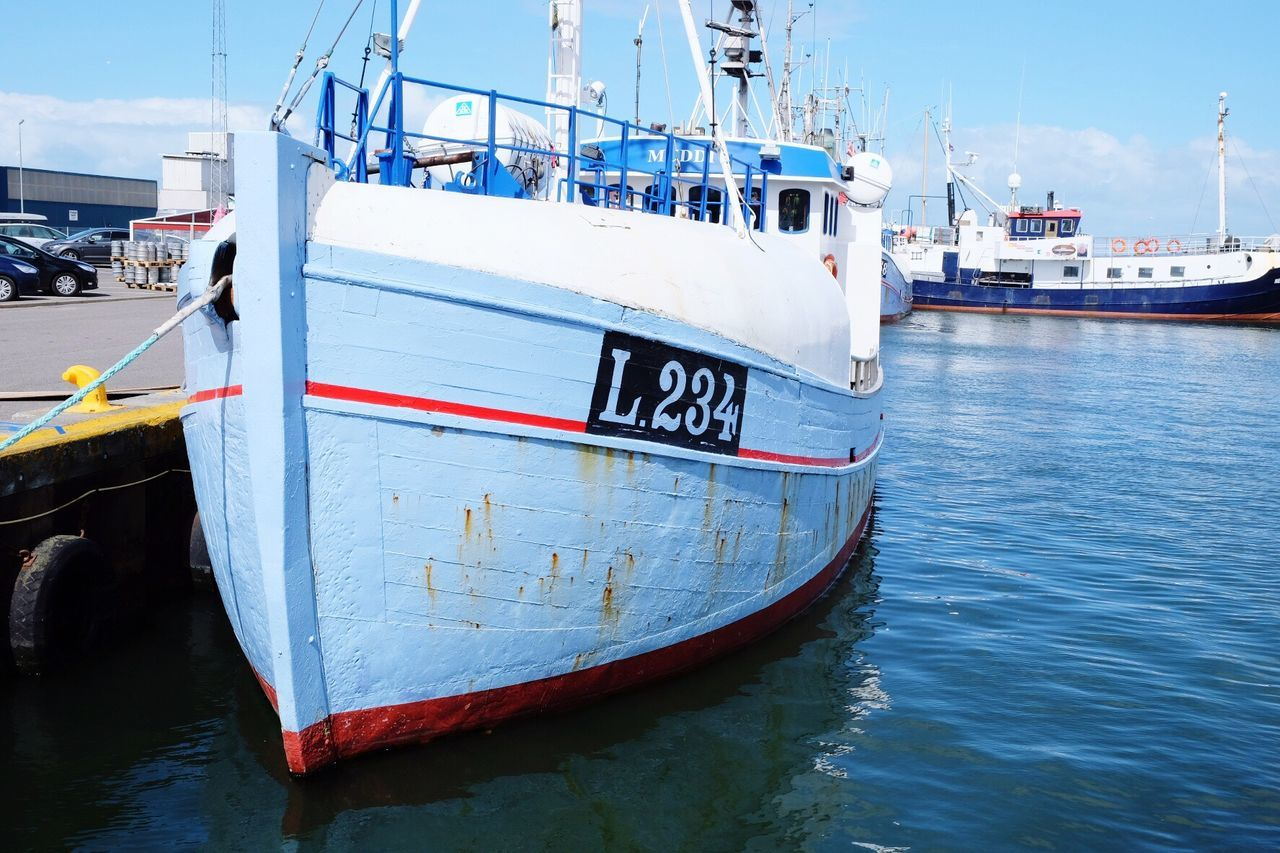 nautical vessel, transportation, mode of transport, moored, boat, day, sky, water, outdoors, no people, harbor, nature, sea, close-up