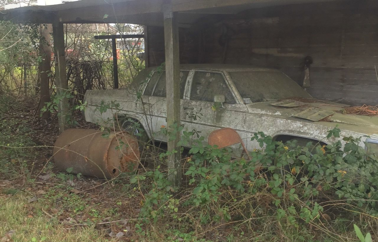Decadent Ruins rusty car auto salvage Abandoned Obsolete Damaged Outdoors Discarded Grass No People