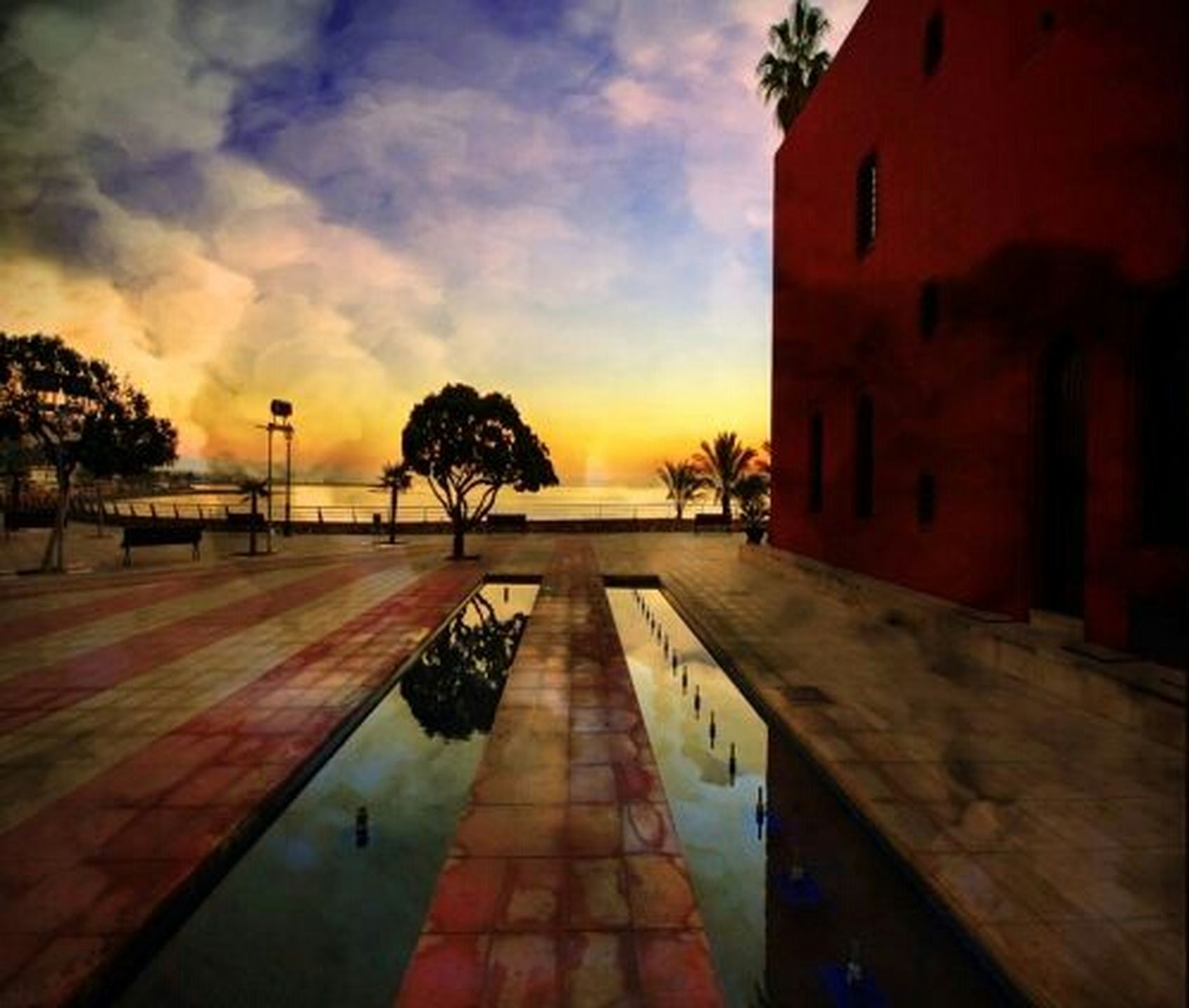 Wow That's So Cool !! Sunset Reflection Amazing View Orange Sky Sunshine Beautiful ♥ Check This Out Hdr_Collection Watching The Sunset