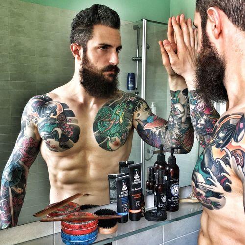 Beard Tattoo Bearded Tattooedmen Man With Tattoo Tattooed