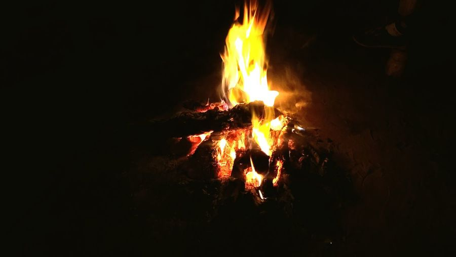 Nothing's better than a nice bonfire on a cold, windy night.