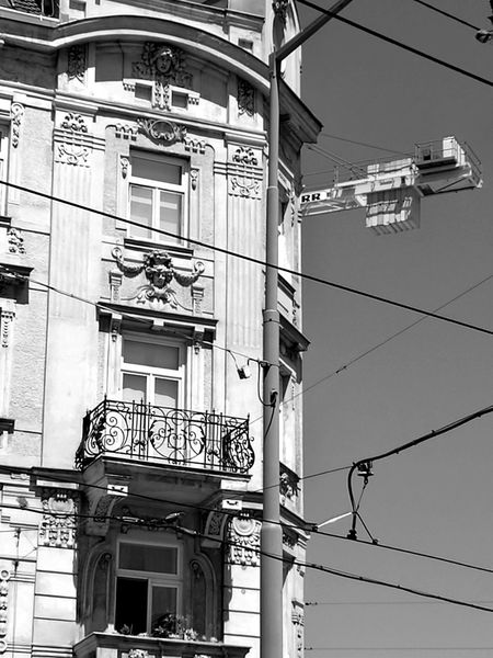 Building Exterior Outdoors Built Structure Architecture Cable Day Low Angle View No People City
