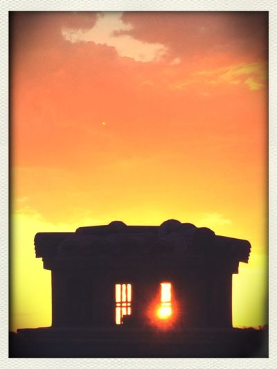 Sunset Silhouettes Evening Sun