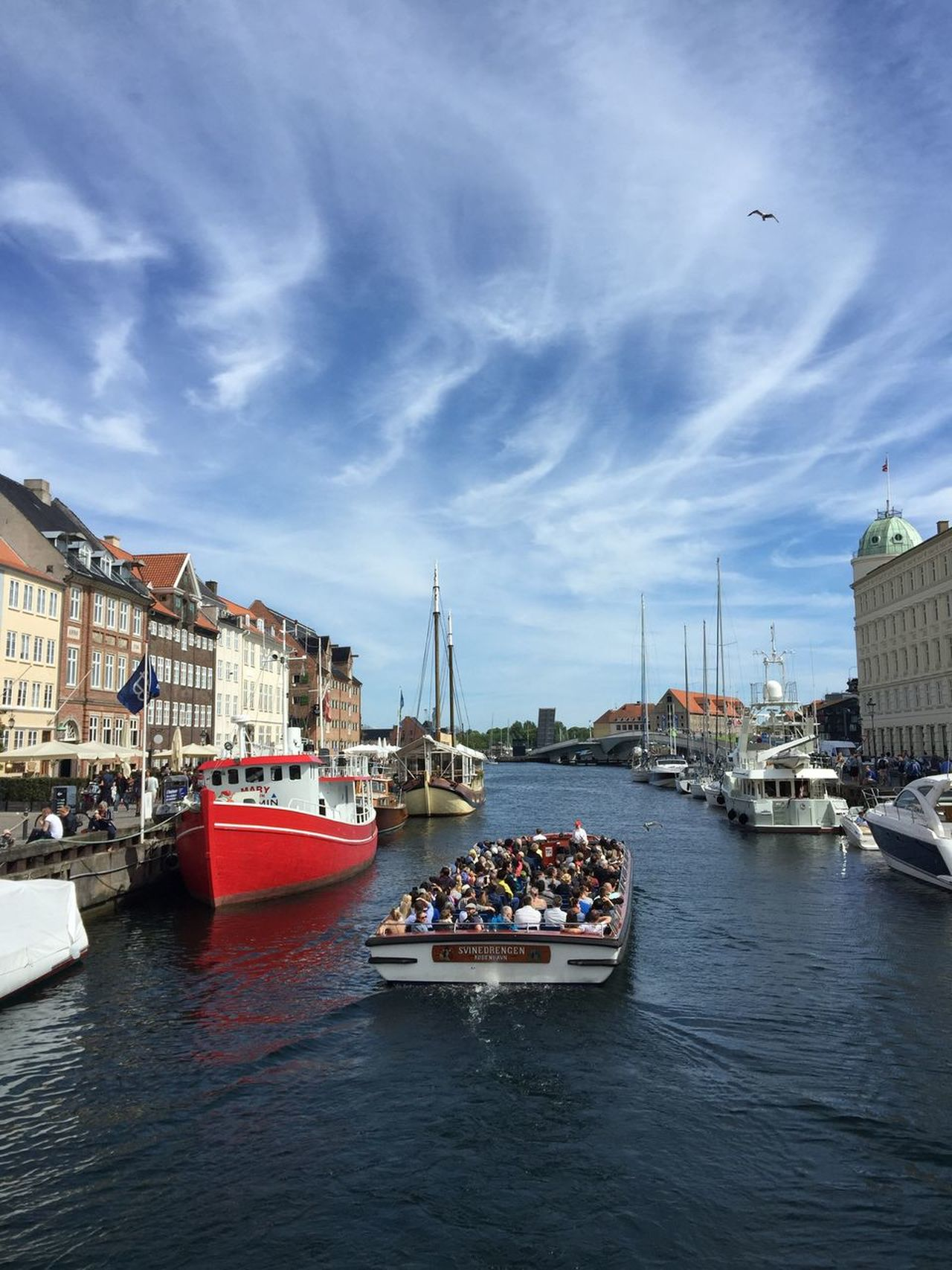 Nautical Vessel Transportation Architecture Built Structure Building Exterior Water Sky River Mode Of Transport Waterfront Day Cloud - Sky City Outdoors Harbor Travel Destinations Moored No People Nature Nyhavn Copenhagen