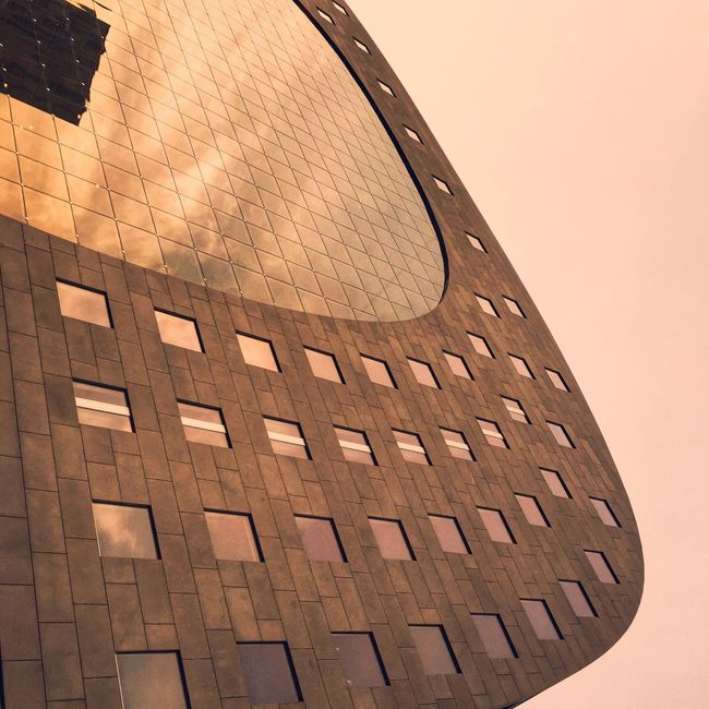 Markthal / Rotterdam Blaak - vis my iPhone6 Architecture Geometric Shapes Architectural Detail Shootermag The EyeEm Facebook Cover Challenge Urban Geometry Textures And Surfaces EyeEm Best Edits Rotterdam