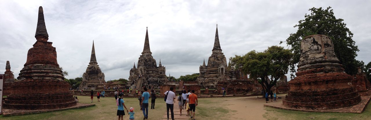 Ayutthaya Thailand Thailandia Pagode Resti Rovine TEMPI Foto Panoramica