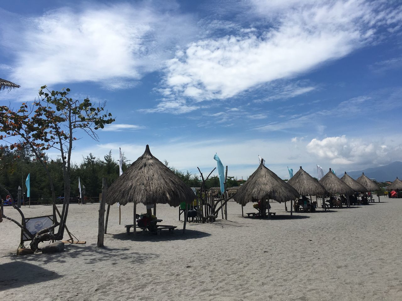 Live For The Story Tranquility Beauty In Nature Beach Sand Sky Thatched Roof Outdoors Nature Day Tranquility Shelter No People Sand & Sea Eyemphilippines Landscape Scenics Sunbathing Beach Walk Beachlife Cloud - Sky Hut Summer Summer2017 Nipahut