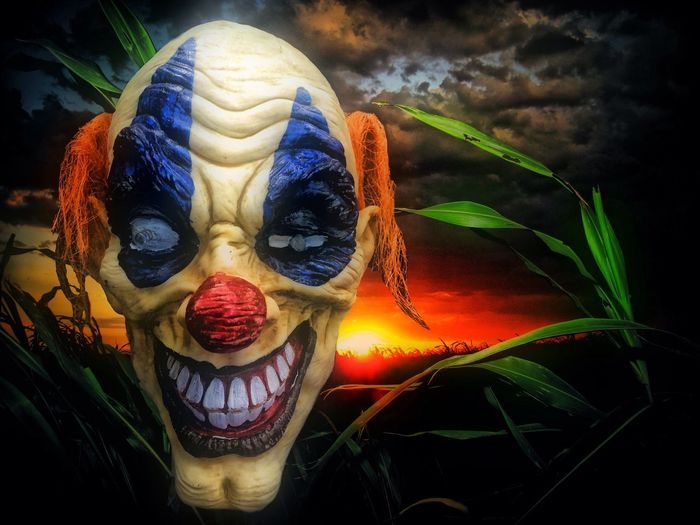 Coulrophobia Coulrophobia Clowns Scary Clown Sunset Sunsets