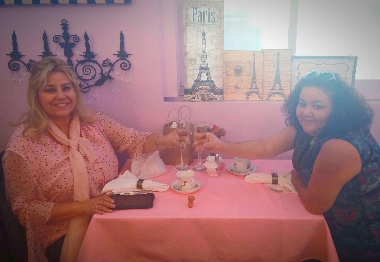 Tea Time Champagne Glasses Birthday Celebration Friends Having Fun A Thyme For Tea