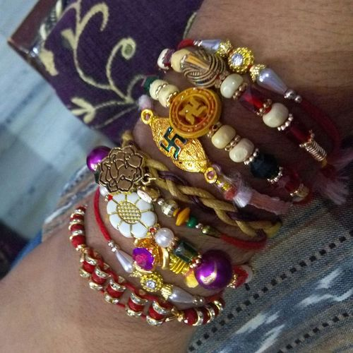 Indian Festival Rakhi Rakshabandhan Loveit♥ hand full of rakhi
