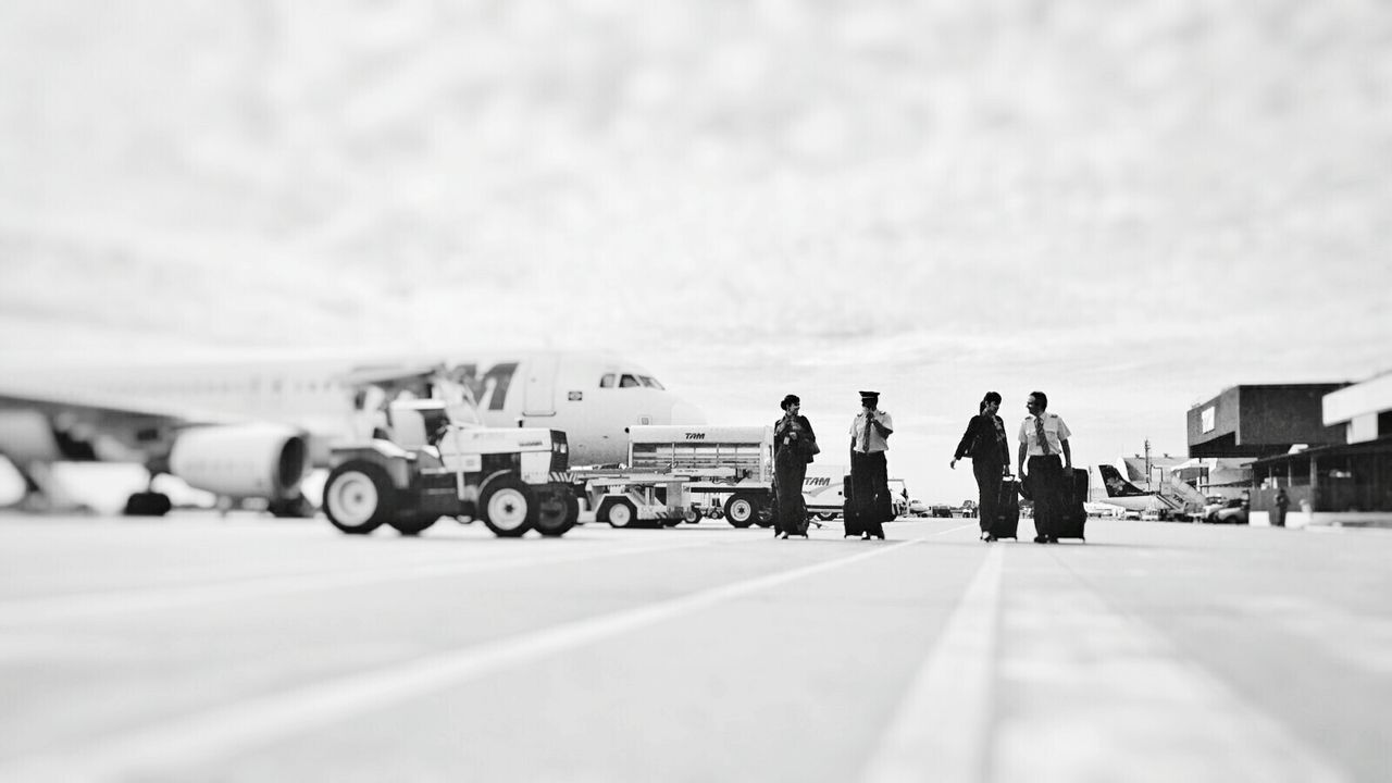 transportation, real people, day, mode of transport, men, road, outdoors, land vehicle, full length, sky, people