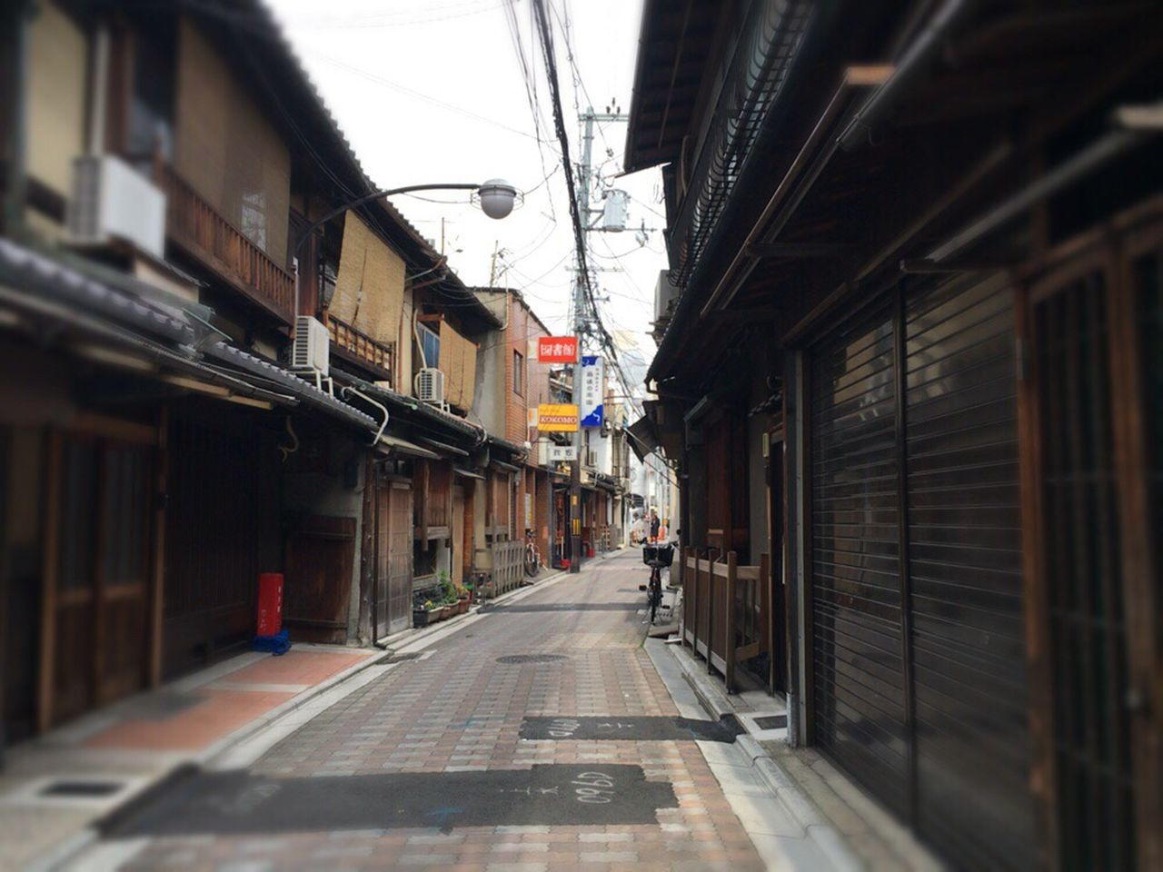 Kyoto Street Wind Kyoto City Matiya Kyoto Tradisional House Kyoto Matiya Kyoto,japan Kyoto Street