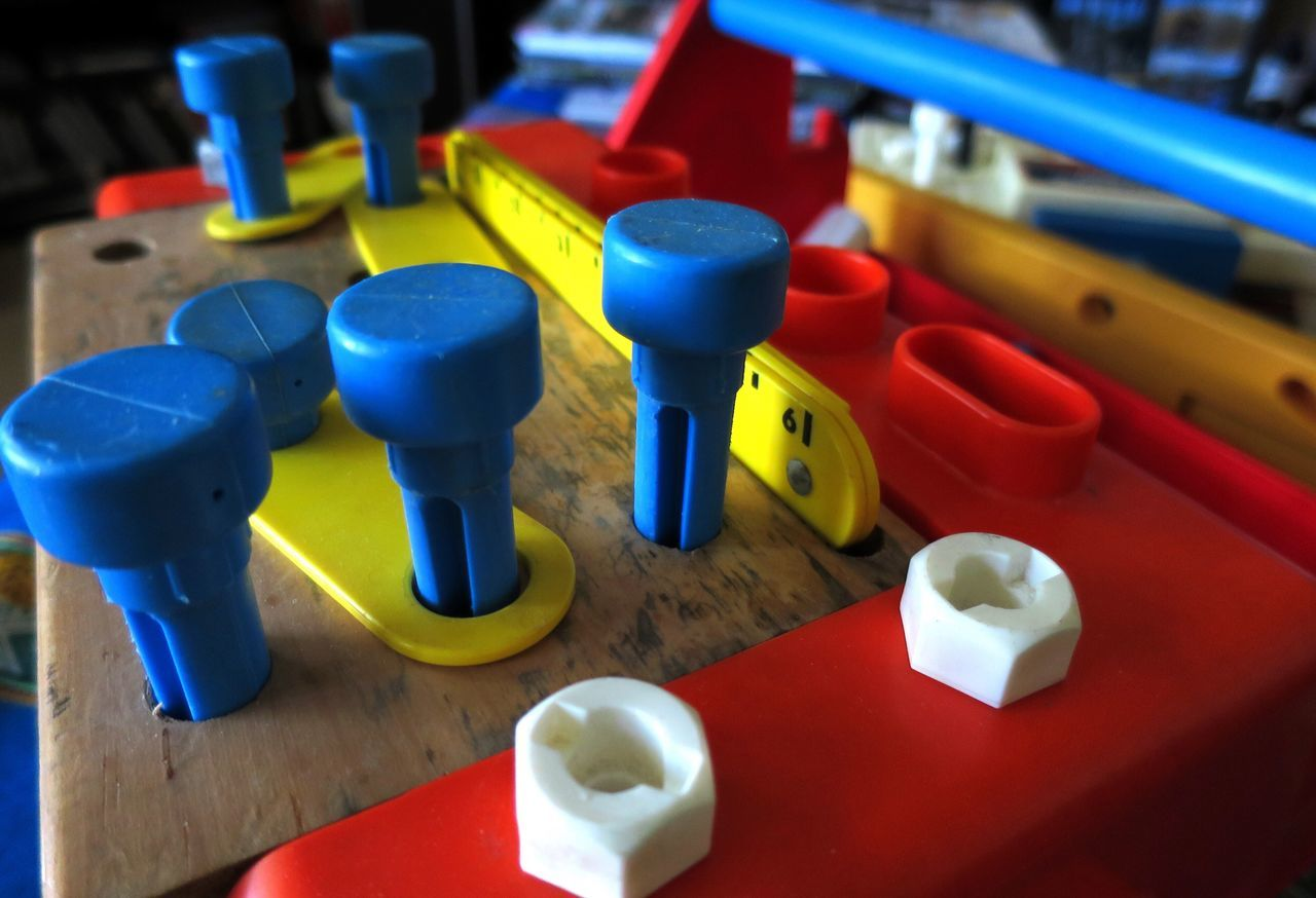 Still Life Multi Colored Indoors  Toy Plastic High Angle View No People Variation Table Large Group Of Objects Blue Close-up Childhood Old Toys 1980s Boys Toys Construction Set Make Believe Toys The Architect - 2017 EyeEm Awards