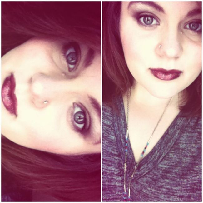 Inspiration from @snowhiteandhell for my makeup. I really enjoy makeup and trying out new shades. Makeup Notanotherselfie