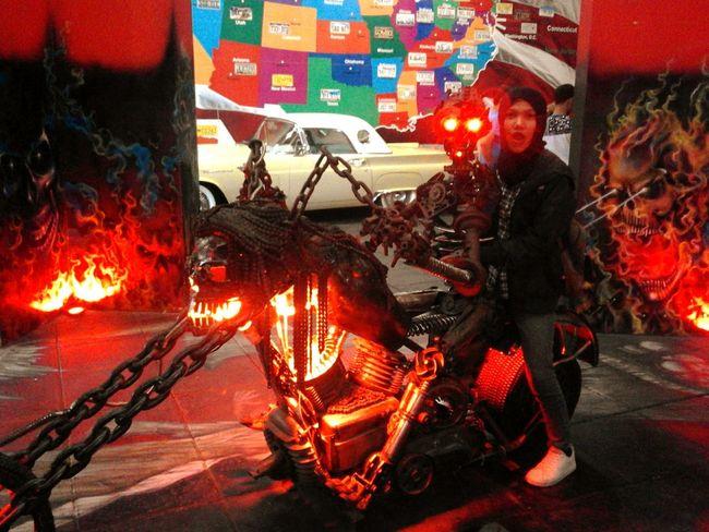 GoJek 🔥 Good Picture Likeforlike Photooftheday Burn Fire Gohst Rider Red Popular Photos