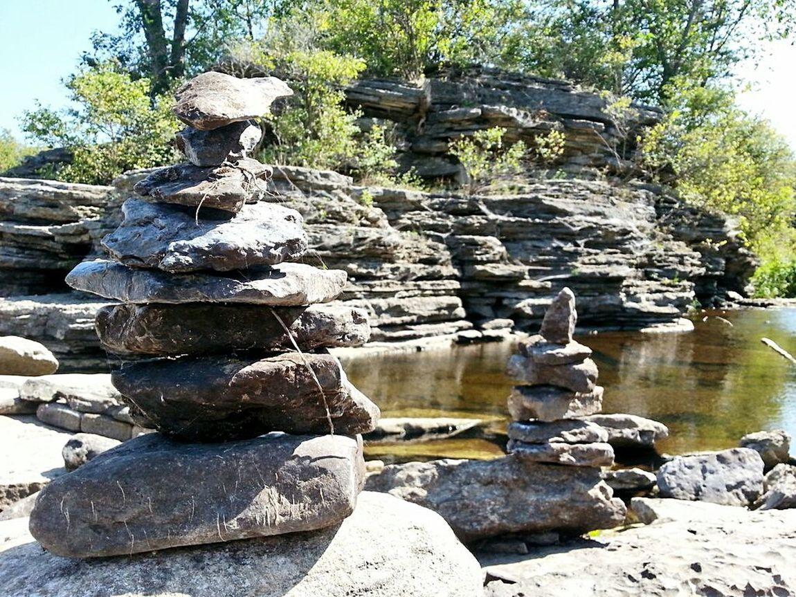 Rock Stacking Stackin Rocks Rocks Water Grotto Relaxing Hanging Out Enjoying Life NatureIsBeautiful Ontario