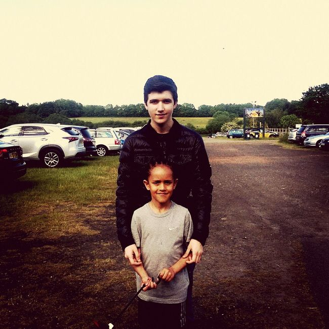 Me and the nephew at he's 2k run at whipsnade zoo. He came 1st in he's age group Whipsnade Zoo First Eyeem Photo