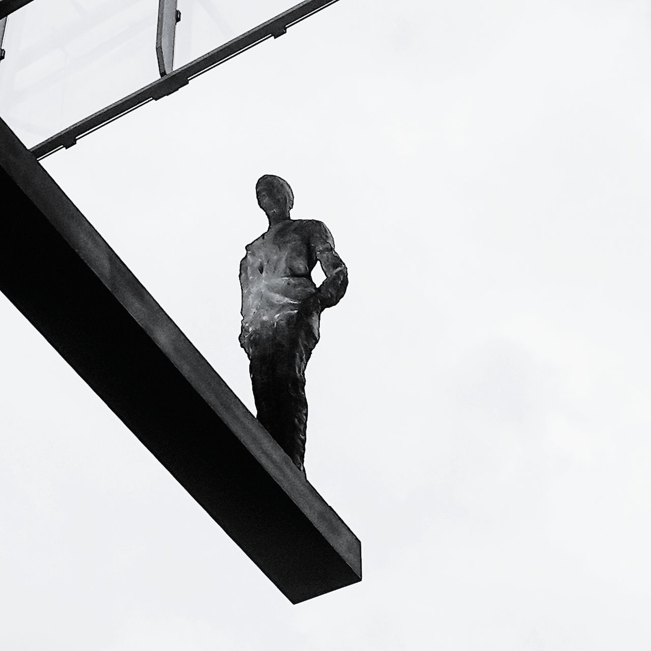Black&white Man On The Edge Streetphotography Warsaw Sculpture Travel City Architecture Showcase: February Metal Blackandwhite