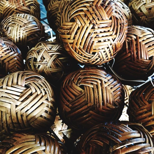 Woven ball clusters in Laos. Ball Woven Bamboo Taking Photos Shot By IPhone6s Plus Minimal IPS2016Composition Pattern Pieces