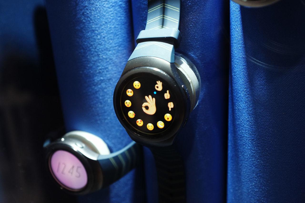 Blue Bluetooth Close-up Emoji Emoticon Gadgets Human Hand Mobile Conversations Ok Outdoors Smart Watch Technology Time