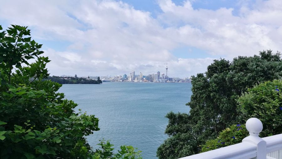 Auckland Waitemata Harbour SkyTower Cloud - Sky Sky No People Outdoors Day Tree Architecture Cityscape Sea Water