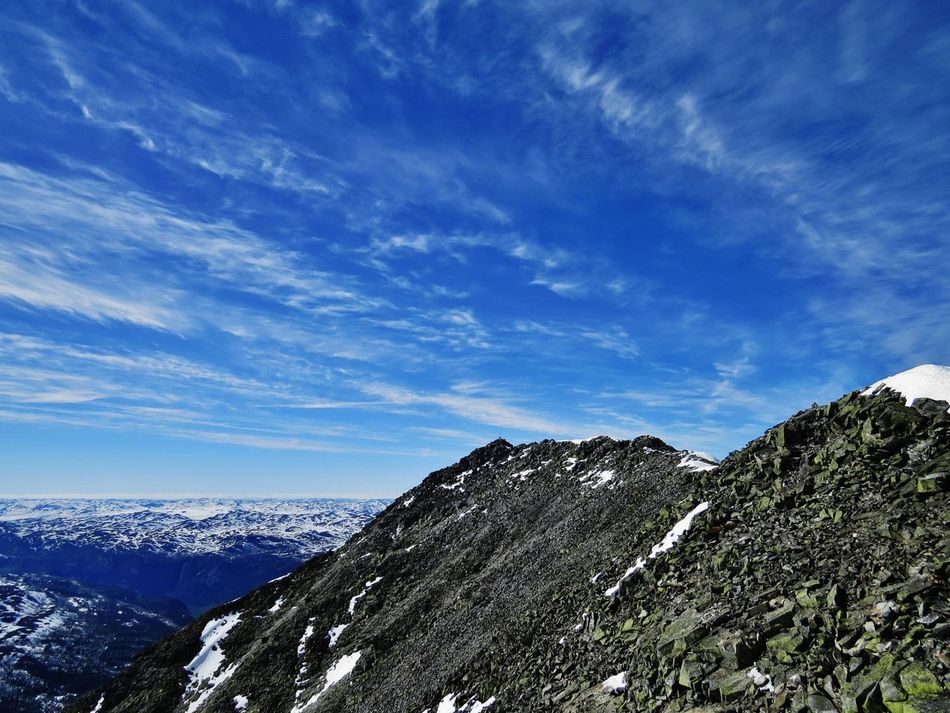 Adventures Beauty In Nature Cloud - Sky Day Gaustatoppen, Norway Landscape Mountain Mountain Peak Mountain Range Nature No People Norway Outdoors Scenics Sky Snow Travel Destinations Tree Trip TripAdvisor Trips Around The World Trips To Never Forget