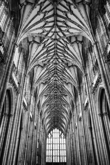 Arch Architectural Column Architectural Feature Architecture Blackandwhite Built Structure Carl Zeiss Cathedral Ceiling Church Famous Place Hampshire  History Indoors  Interior Low Angle View Monochrome Place Of Worship Religion Sony Rx100 Spirituality Travel Destinations Winchester Winchester Cathedral Window First Eyeem Photo