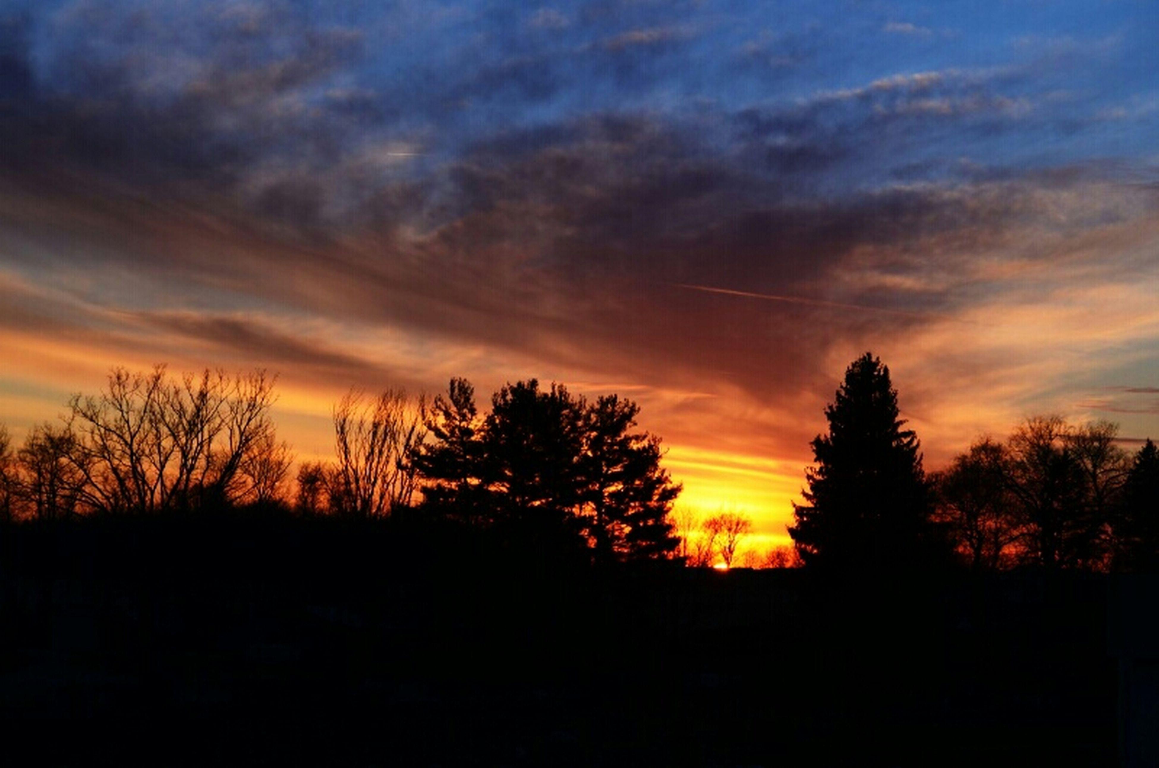 Sunset Silhouette Pennsylvania Beauty Sunset Silhouettes Rural Landscape Pennsylvania