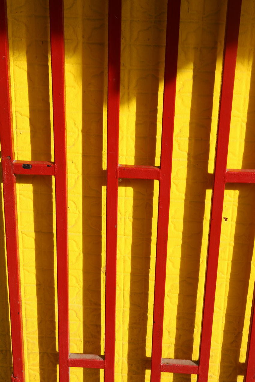 Close-up Day Door Metal No People Outdoors Red Yellow Yellow-red