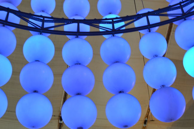 Colorful Glow In The Dark Glowing Lights Blue In Rows Brilliant Colors O2 Arena