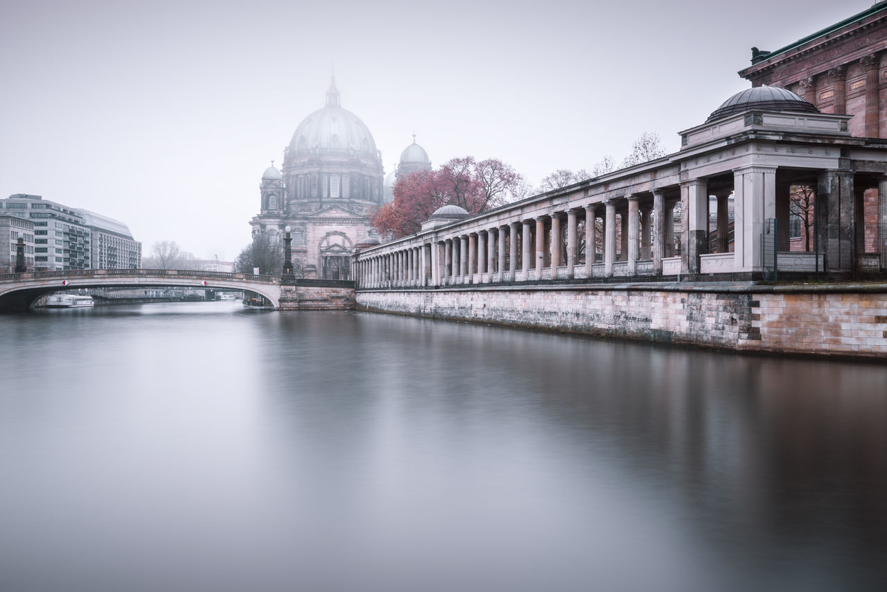 Berlin Cathedral on a cold and foggy december morning Autumn Mood Berlin Cathedral Berlin City Berlin Germany Berliner Dom Clinical Atmosphere Cloudy Day Cold Days Copyspace Fine Art Photograhy Foggy Morning Germany International Landmark Longexposure Misty Morning Museuminsel Muted Colors Nobody Philipp Dase Sightseeing Spree River Travel Destination Urban Icon Winter 2016 Winter Mood