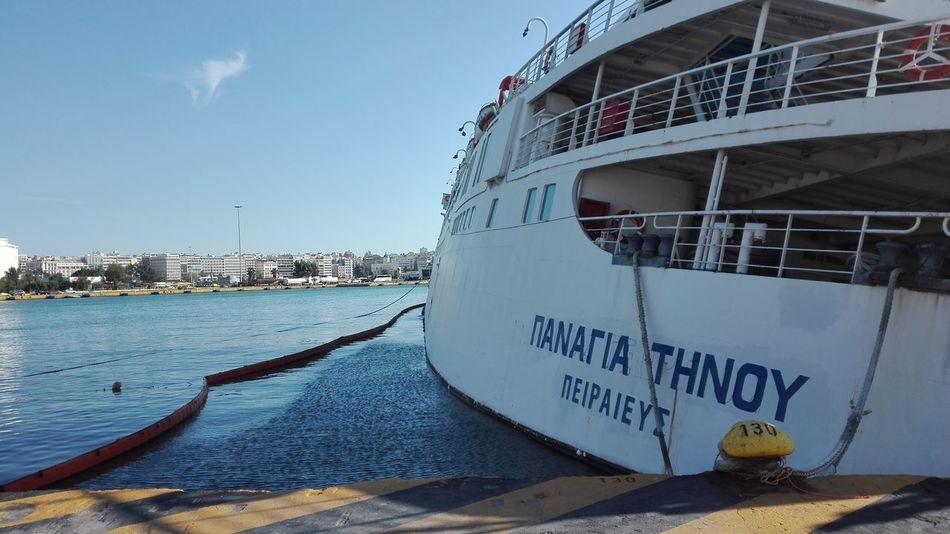 Piraeus Port Port Sea Shipwreck Tinos Greece Water