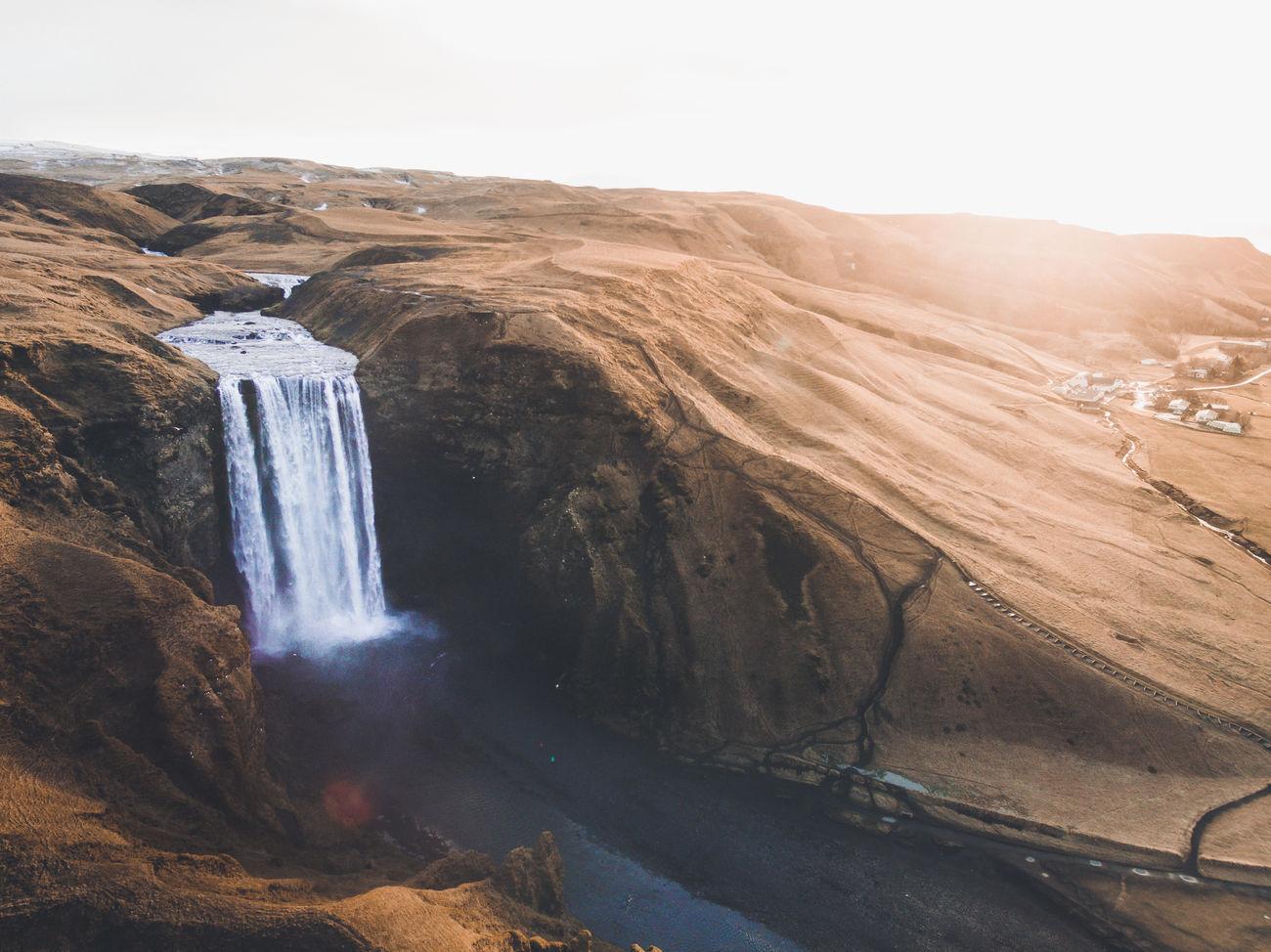 Beautiful stock photos of wasserfall, Iceland, Reykjavik, Sun Flare, beauty In Nature