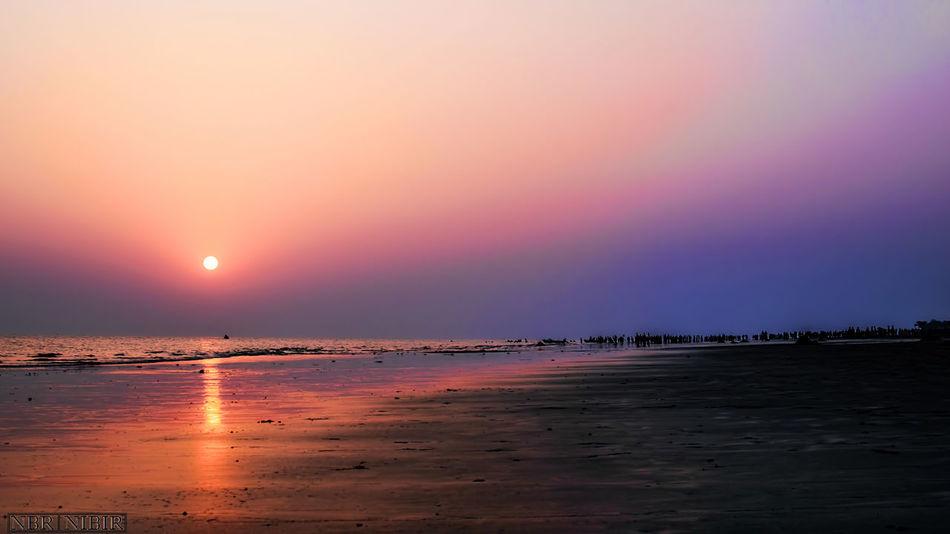 Sunset at Kua kuakata Bangladesh Landscape_photography Landscape Sunset Kuakata_sea_beach Kuakata First Eyeem Photo